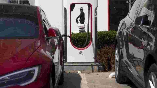 Representational photo of Tesla electric cars.