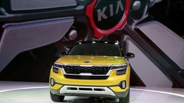 File Photo: A Kia Seltos car is displayed at the LA Auto Show in Los Angeles, California, U.S., November 20, 2019. REUTERS/Lucy Nicholson/File Photo (REUTERS)