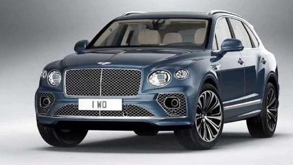 The leaked image of the 2021 Bentley Bentayga SUV. (Photo courtesy: Instagram/wilcoblok)