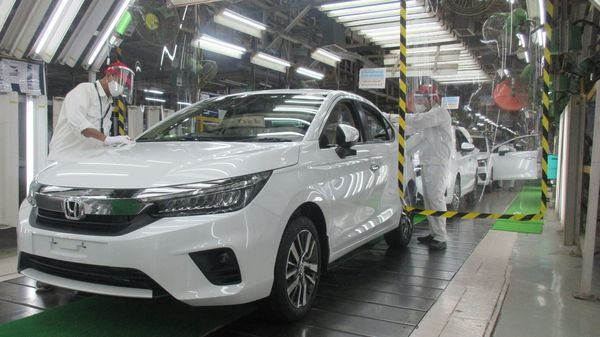 The fifth-generation Honda City at the company's manufacturing facility in Greater Noida.