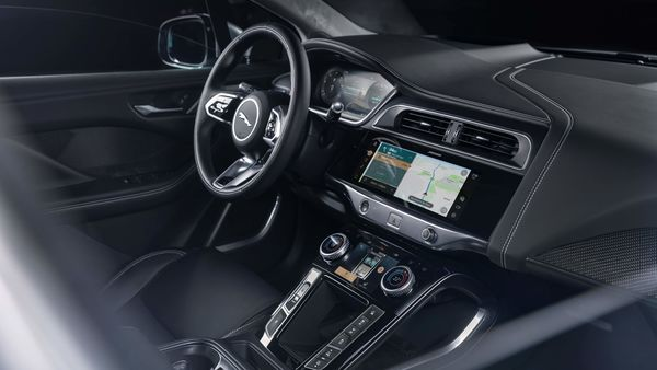 New I-Pace is the first from Jaguar to feature the new Pivi Pro infotainment system, which is fast and responsive with enhanced EV navigation that can show if nearby charging stations are available or in use, what they cost, and how long it will take to charge.