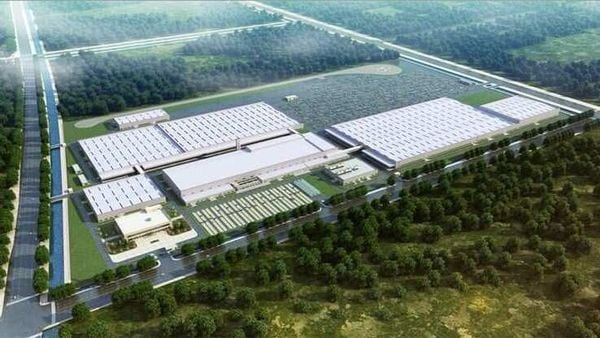 An aerial view of the Spotlight Automotive Production base in China.