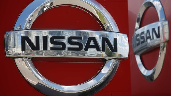 A logo of Japan car manufacturer Nissan is pictured at a dealership Kyiv, Ukraine. (REUTERS)