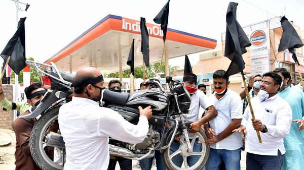 Rising petrol and diesel costs have resulted in protests in many cities across India while a political bickering has also emerged due to it.