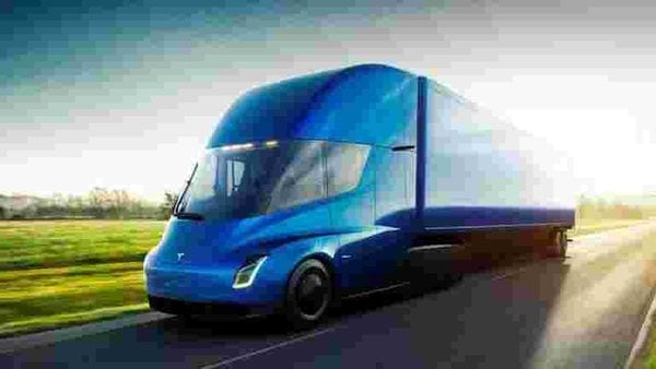 The Tesla Semi, the company's electric big-rig truck, is seen in this undated handout image released in November, 2017.