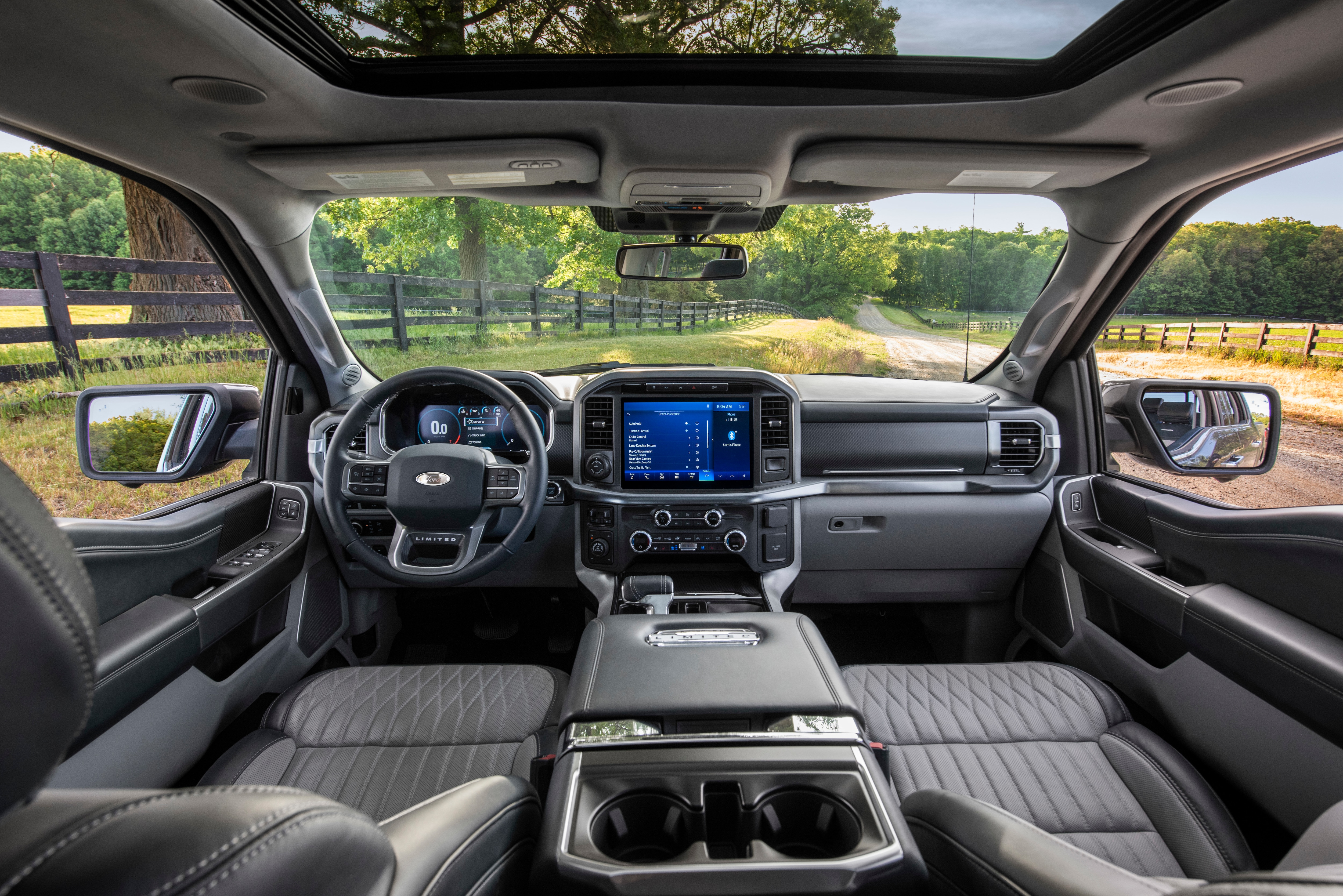 The interior speaks of style, comfort, utility and technology. Ford says the F-150 will be tougher than ever and come with fully connected over-the-air updates. It will be the first Ford vehicles equipped with electronic systems.