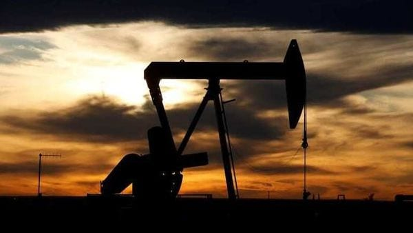 FILE PHOTO: The sun sets behind a crude oil pump jack on a drill pad. (Representational Image) (REUTERS)