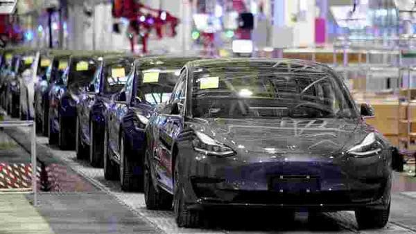 File photo of Tesla Model 3 cars. (REUTERS)