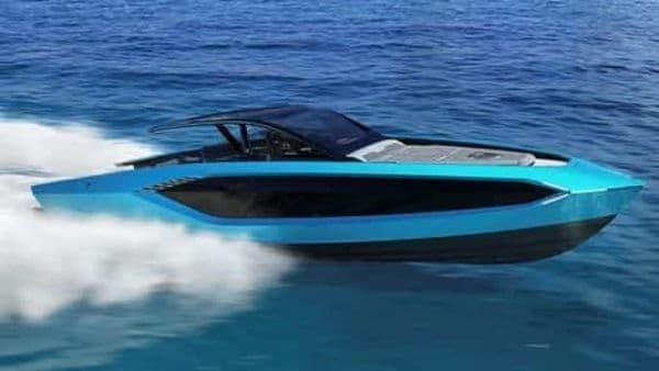 Powered by two MAN V12-2000 hp engines, the yacht is capable of hitting speeds of 60 knots.