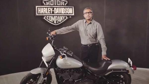 Sajeev Rajasekharan, Managing Director, – Asia Emerging Markets and India, Harley-Davidson, with the new Low Rider S.