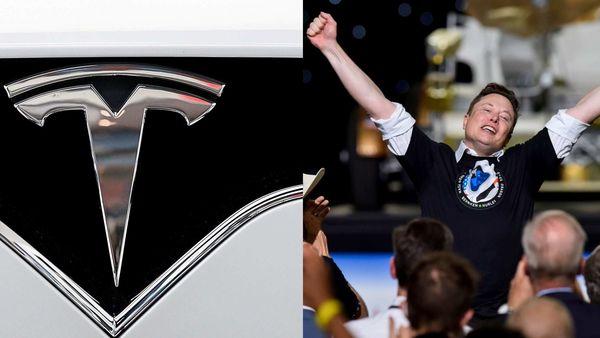 Tesla CEO Elon Musk (right)