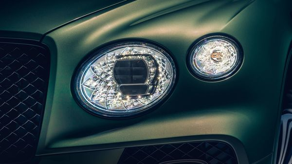 New intelligent LED matrix headlamp technology includes the signature Bentley design inspired by cut crystal glassware.