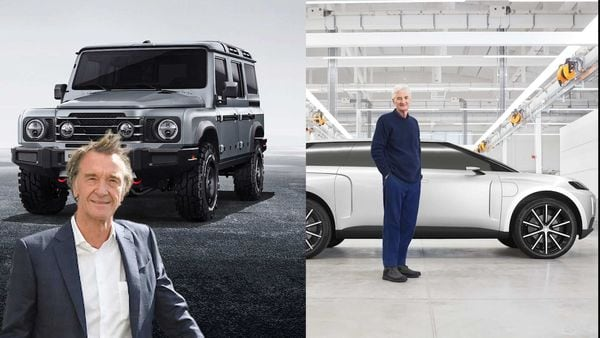 UK billionaire Jim Ratcliffe (left) has successfully moved into car manufacturing after James Dyson (right) failed in his first attempt last year.