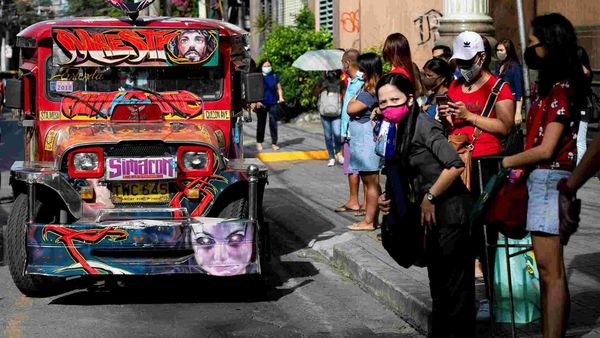 Thousands of jeepneys, flamboyantly decorated jeeps that serve as cheap public transport across the Philippines, are back on the streets of Manila. Most of these are festooned with religious slogans, horoscope signs or logos of US sci-fi films. (REUTERS)