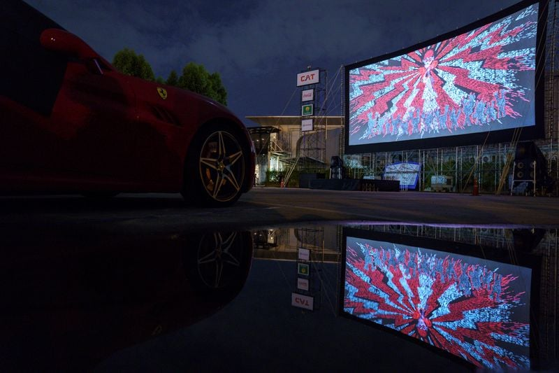 The entry fee per vehicle for the drive-in theatre has been kept at 1,200 baht (38.63 dollars), which includes popcorn and soft drinks. (REUTERS)