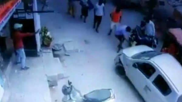 Screenshot from a CCTV footage tweeted by news agency ANI.