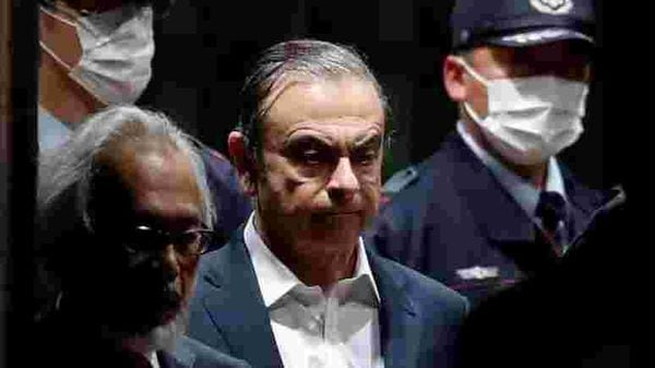 FILE PHOTO: Former Nissan Motor Chairman Carlos Ghosn leaves the Tokyo Detention House in Tokyo, Japan, April 25, 2019. (REUTERS)