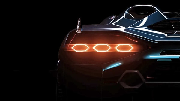 The mystery car from Lamborghini will have hexagonal taillights and tailpipes. (Photo courtesy: lamborghini.com