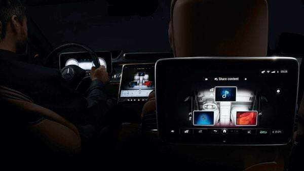 Mercedes offers first look inside 2021 S-Class luxury sedan and its new MBUX infotainment system.