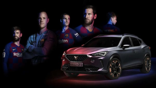 The Cupra Formentor became the official car for the Spanish football club FC Barcelona.