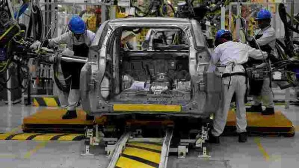 The ICRA report noted that the shortage of labour and productivity loss because of social distancing will impact output in the auto component industry.(Representational photo) (REUTERS)