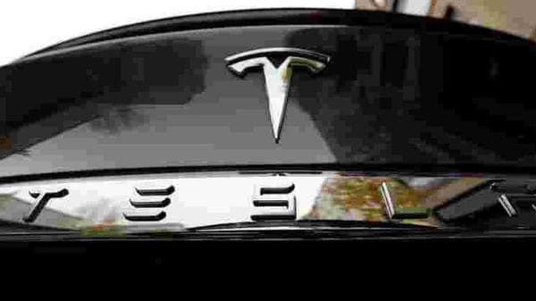 FILE PHOTO: The company logo is pictured on a Tesla Model X electric car in Berlin, Germany. (REUTERS)