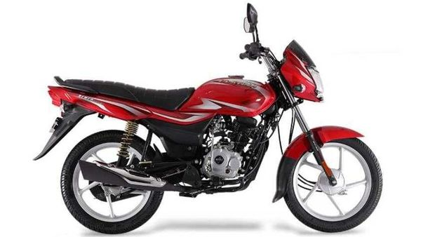 Bajaj Platina 100 ES pictured.