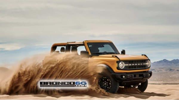 2021 Ford Bronco image leaked online. (Photo courtesy: bronco6g.com)