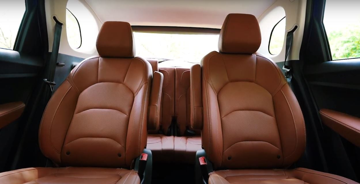 The SUV gets a 6-seat setup featuring captain seats with recline and slide function in the second row. It also gets a new tan faux leather upholstery, beige headliner, a revised dashboard, air vents for the third-row passengers, rear AC vents et cetra.