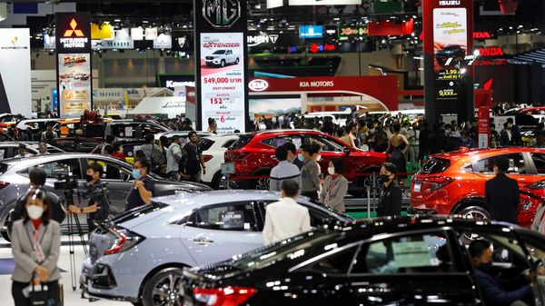 A general view during the media day of the 41st Bangkok International Motor Show after the Thai government eased measures to prevent the spread of the coronavirus disease (COVID-19) in Bangkok, Thailand July 14, 2020. REUTERS/Jorge Silva (REUTERS)