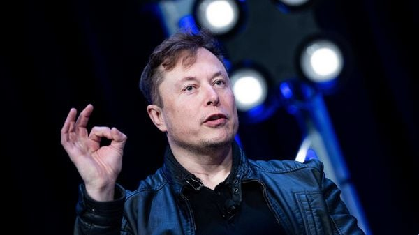 File photo of Elon Musk, founder of Tesla, speaking at the Washington Convention Center. (AFP)