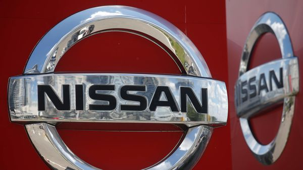 A logo of Japan car manufacturer Nissan is pictured at a dealership Kyiv, Ukraine. (REUTERS)