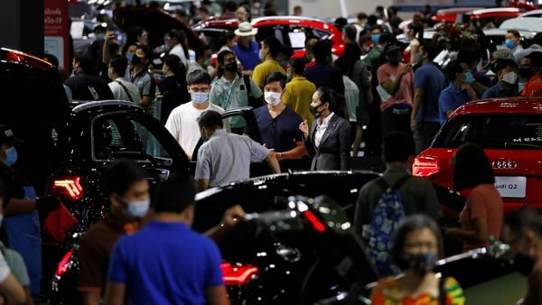A general view during the 41st Bangkok International Motor Show, after the Thai government eased measures to prevent the spread of the coronavirus disease in Bangkok. (REUTERS)