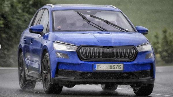 Skoda Enyaq electric SUV spotted testing in Czech Republic. (Photo courtesy: Instagram/gtb.photography)