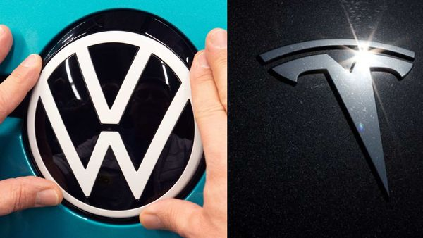 VW's (left) electric offensive has sputtered, with software issues plaguing its battery-powered ID.3.