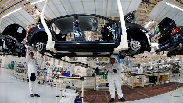 File photo for representational purpose: Men work in the automobile production line of the new Honda plant in Prachinburi, Thailand. (REUTERS)