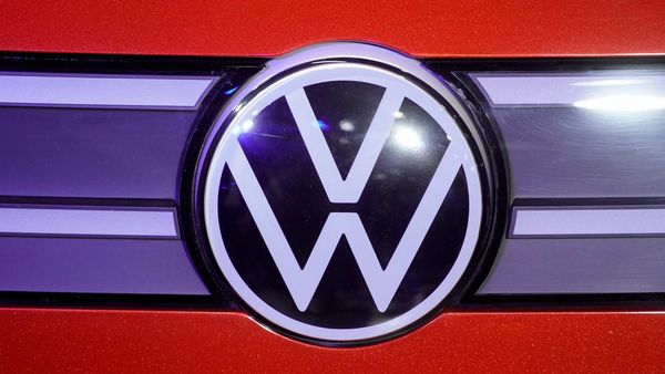 FILE PHOTO: A Volkswagen logo is seen at a construction completion event of SAIC Volkswagen MEB electric vehicle plant in Shanghai, China, Nov. 8, 2019. REUTERS/Aly Song/File Photo (REUTERS)