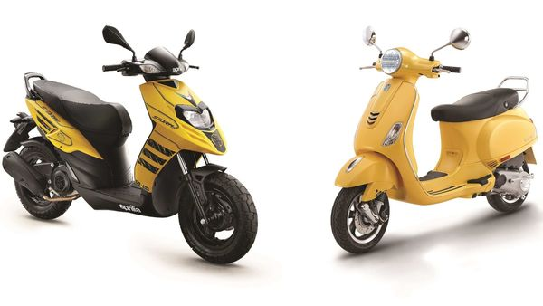 Aprilia Storm (left) and Vespa VXL facelift have been officially launched in India.
