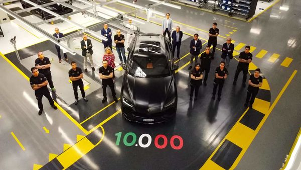 Lamborghini achieved production milestone of 10,000 Urus SUV.