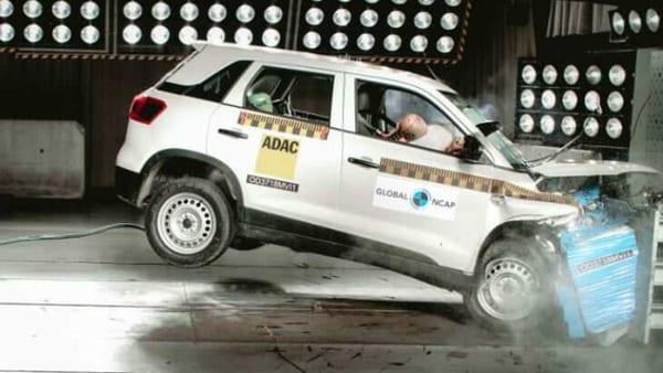 Mahindra XUV300 at the Global NCAP crash test