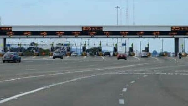 Photo of a toll plaza used for representational purpose only