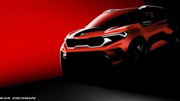 Kia Sonet official design sketch.