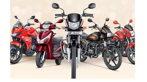 Hero bikes and scooters (Representational Image)