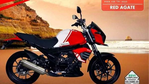 Mahindra Mojo 300 BS 6 in Red Agate colour scheme