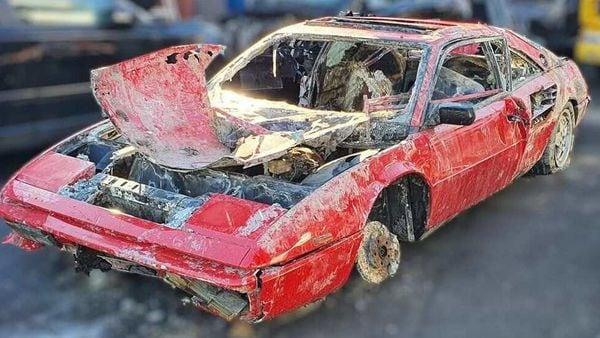 Recovered 1987 Ferrari Mondial (Photo courtesy: De Ooyevaar Autodemontage on Facebook)