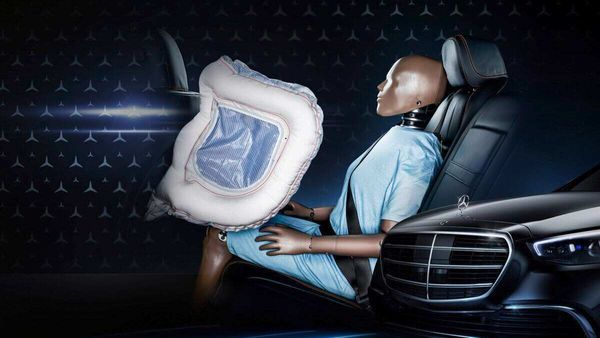The new S-Class will be the first car in the world to use airbags for rear-seat passengers.