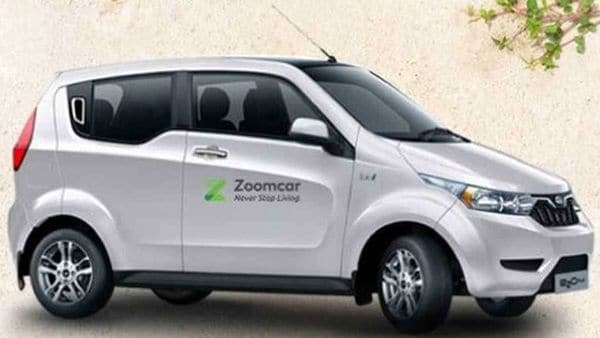 A Mahindra electric car branded as part of Zoomcar fleet. (File photo)