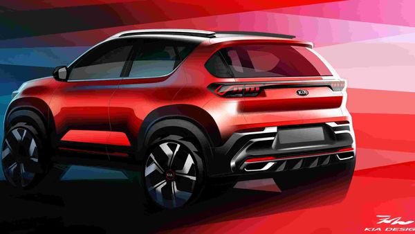 Kia Sonet receives connected tail lamps and a muscular rear bumper with chrome studded exhaust tips.