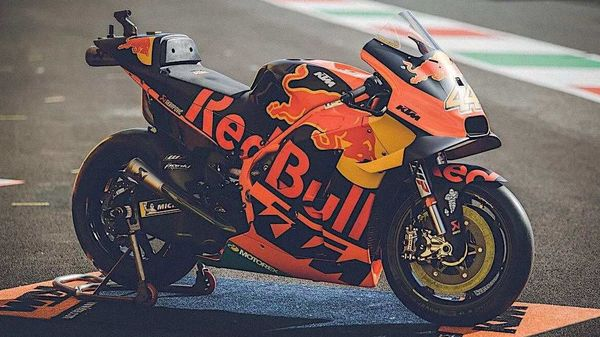 KTM RC16 MotoGP bike pictured.