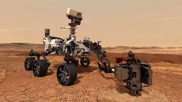 Illustration of NASA's Mars 2020 rover using its drill to core a rock sample. (Photo courtesy: NASA)